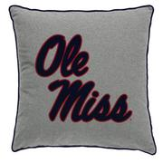 14X14 OLE MISS SPIRIT PILLOW