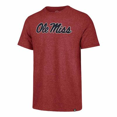 OM DISTRESSED IMPRINT MATCH TEE RED