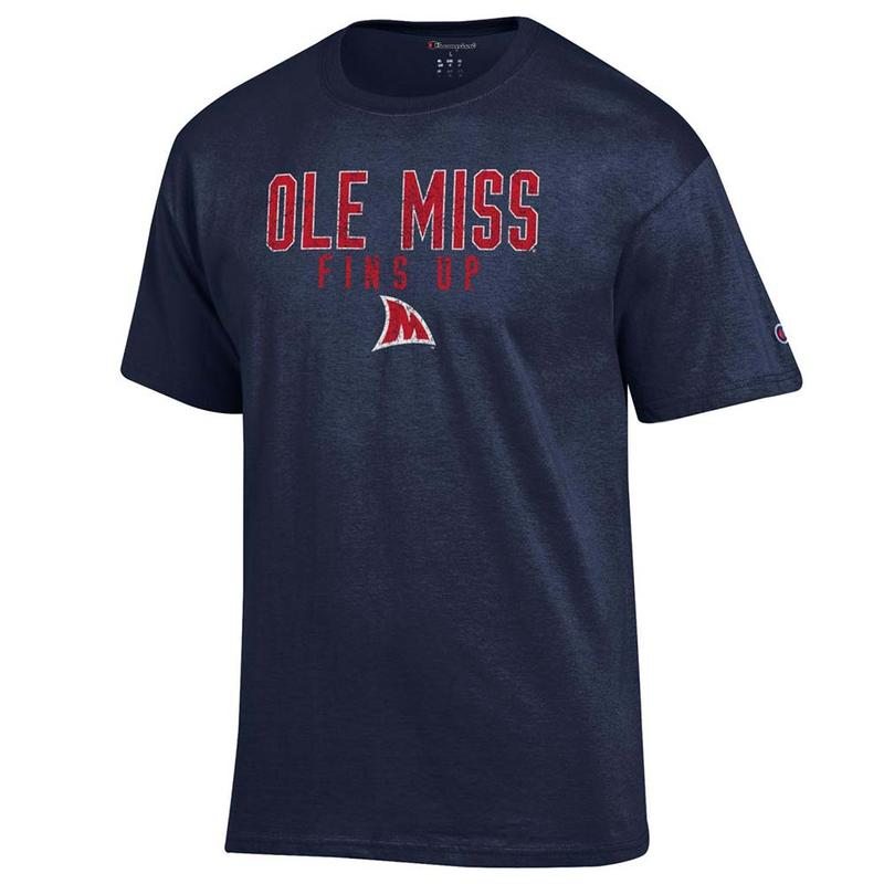 Ole Miss Fins Up Landshark Basic Tee