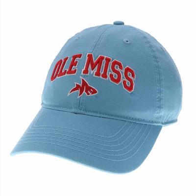 OLE MISS LANDSHARK RELAXED TWILL CAP LIGHT_BLUE