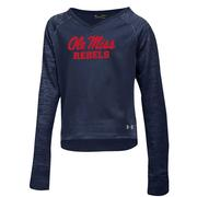 F18 GIRLS AMOURFLEECE CREW NAVY
