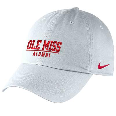 OLE MISS ALUMNI CAMPUS CAP WHITE