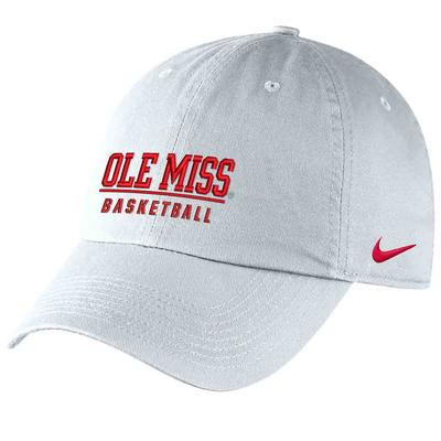 OLE MISS BASKETBALL CAMPUS CAP WHITE