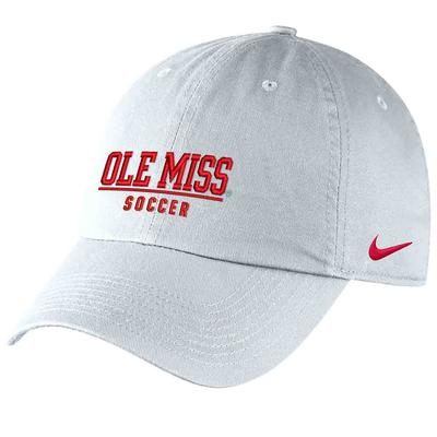 OLE MISS SOCCER CAMPUS CAP WHITE