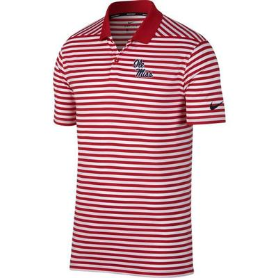 OM NIKE VICTORY POLO STRIPE UNIV_RED