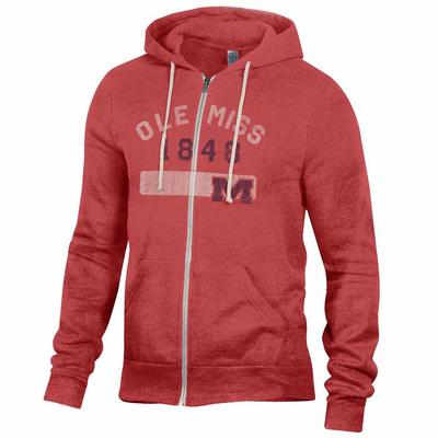 OLE MISS ROCKY HOODIE RED