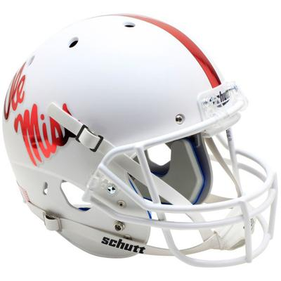WHITE OLE MISS MINI HELMET