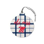 OLE MISS ROUND ORNAMENT