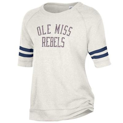 OLE MISS FIFTY YARDLINER TEE PORCELAIN