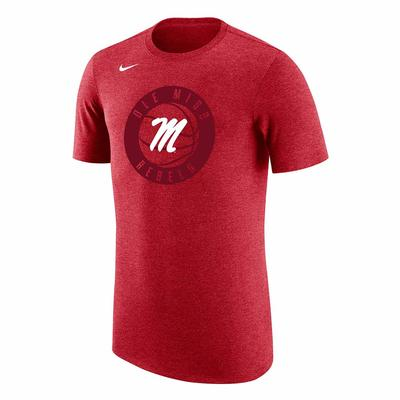 M BASKETBALL TRIBLEND TEE RED