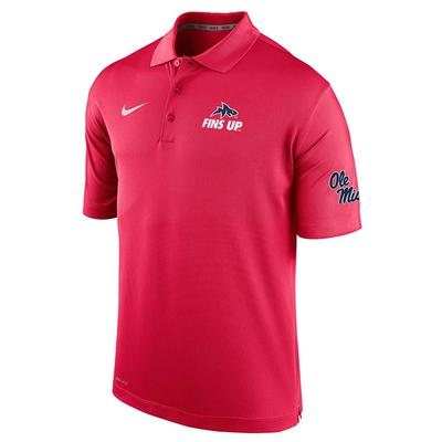 FINSUP VARSITY PERF POLO RED