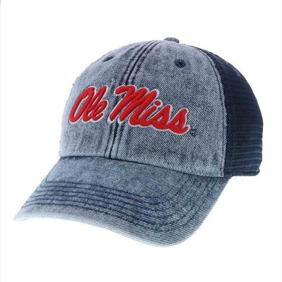 OM STONE WASHED NAVY CAP NAVY