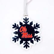 OLE MISS SNOWFLAKE ORNAMENT