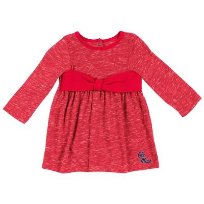 OM CRAIL ONESIE BOW DRESS RED