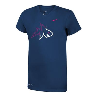 GIRLS LANDSHARK LEGEND TEE NAVY