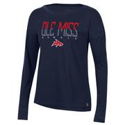 OLE MISS REBELS SHARK S19 PERF COTTON TEE