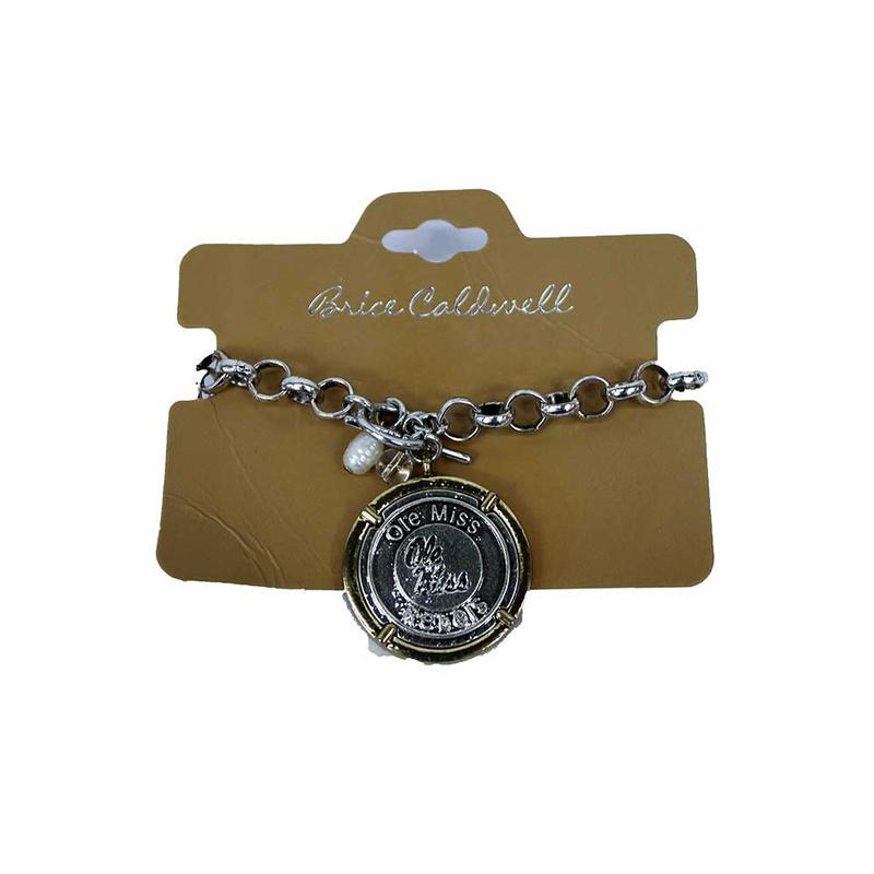 Om Antiqued Coin Bracelet