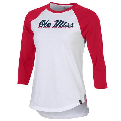S19 OLE MISS PERF COTTON BASEBALL TEE