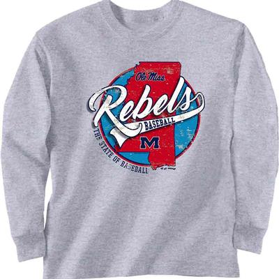 LS OLE MISS BASE STATE TEE
