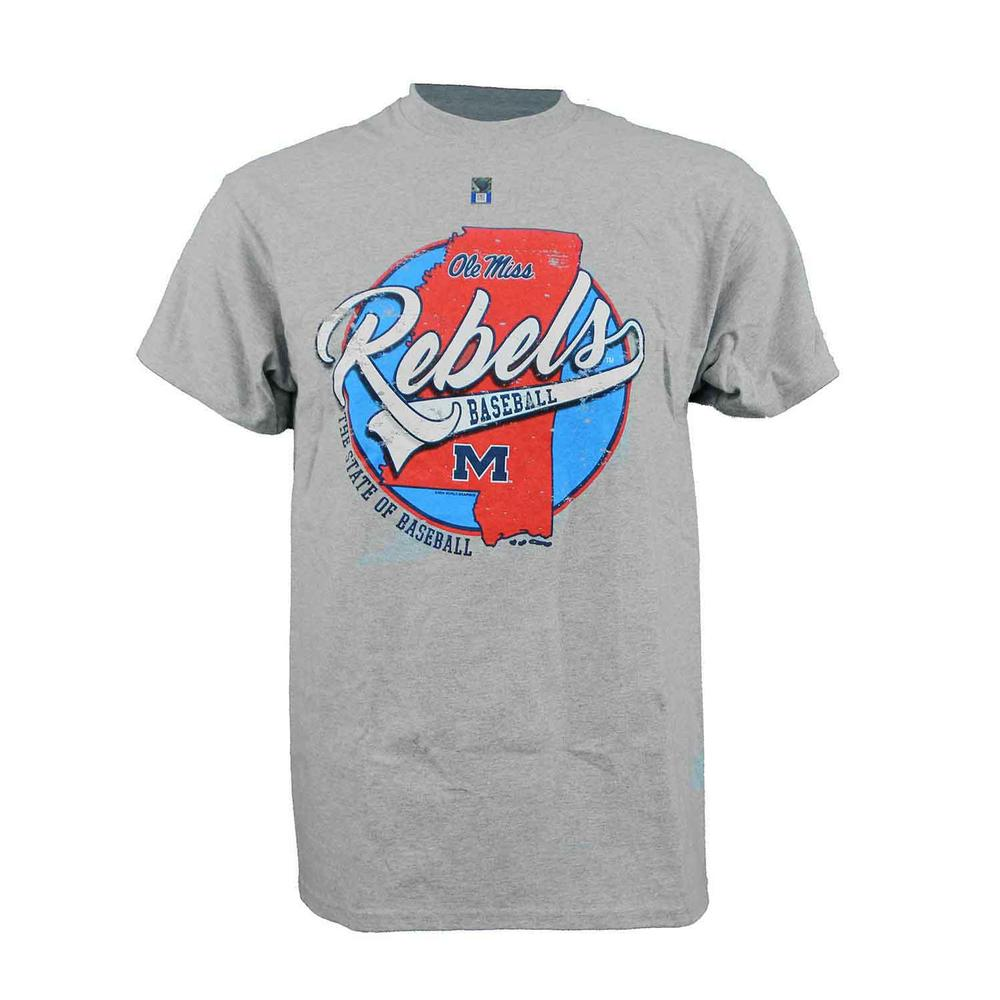 Ss Ole Miss Base State Tee