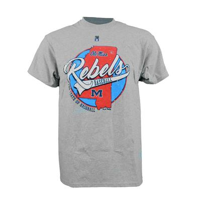 SS OLE MISS BASE STATE TEE SPORT_GRAY