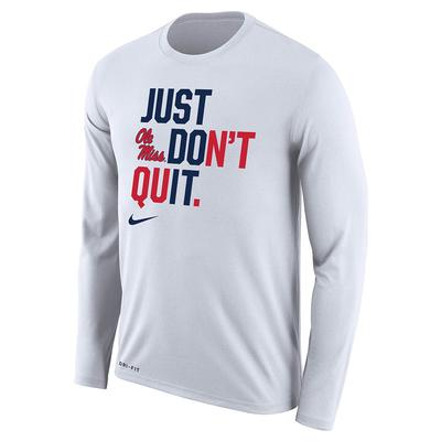LS JUST DONT QUIT LEGEND TEE WHITE