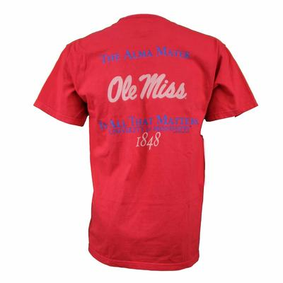 OM ALMA MATER MATTERS TEE RED