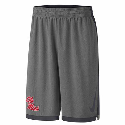 OLE MISS DRIBBLE DRIVE SHORT ANTHRACITE