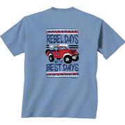 OLE MISS DISTRESS JEEP TEE