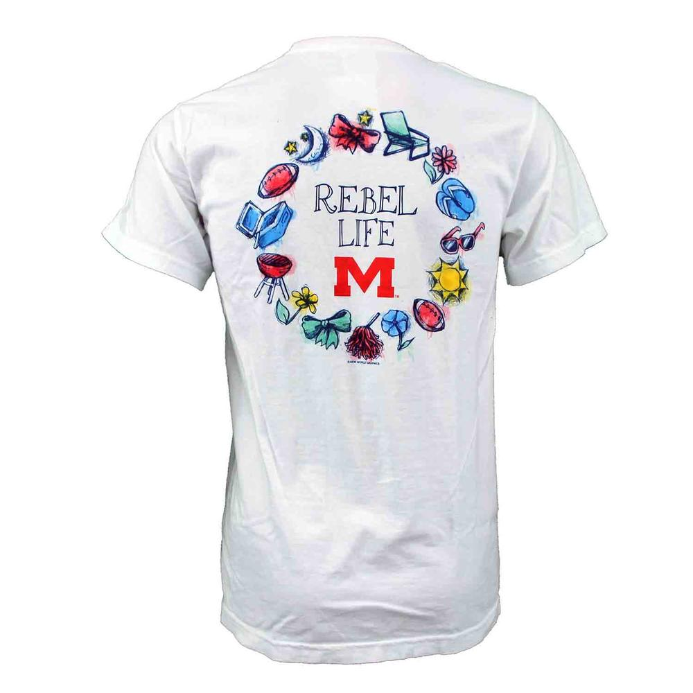 Ole Miss Circle Icon Tee
