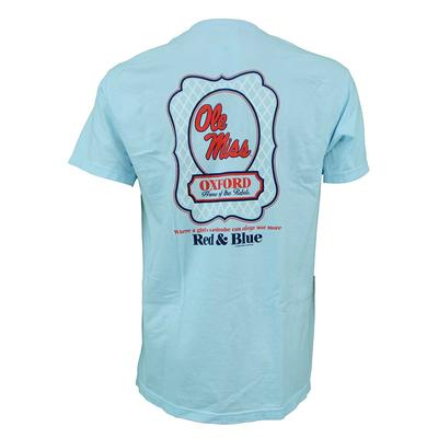 OLE MISS LADIES SHIELD TEE CHAMBRAY