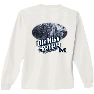 LS OLE MISS ENGRAVING TEE WHITE
