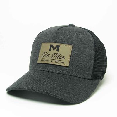 OLE MISS ROADIE TRUCKER CAP BLACK