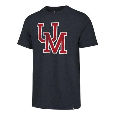 OM DISTRESSED MATCH TEE NAVY