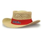 OLE MISS GAMBLER STRAW HAT