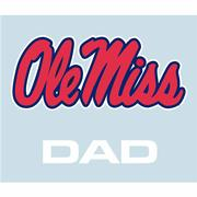 5IN OLE MISS DAD DECAL