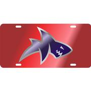 RED LANDSHARK MIRROR TAG