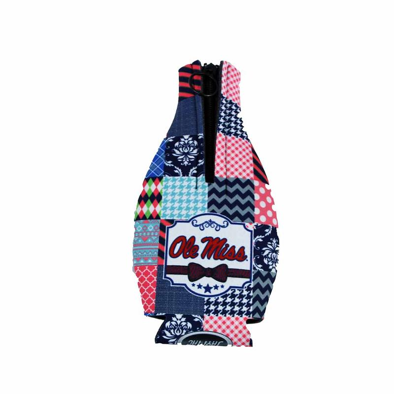 Quilted Om Zipper Coozie