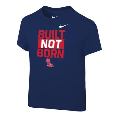 BUILT NOT BORN TEE NAVY