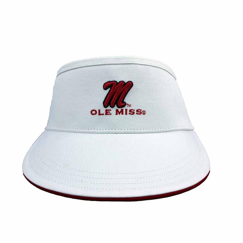 M Ole Miss Golf Visor