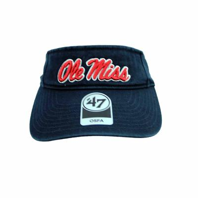 MENS OLE MISS CLEAN UP VISOR NAVY