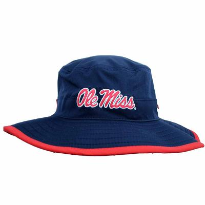NAVY OLE MISS BUCKET HAT