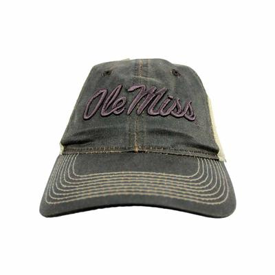 OLE MISS TRUCKER CAP BROWN