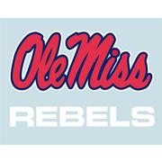 5IN OLE MISS REBELS DECAL