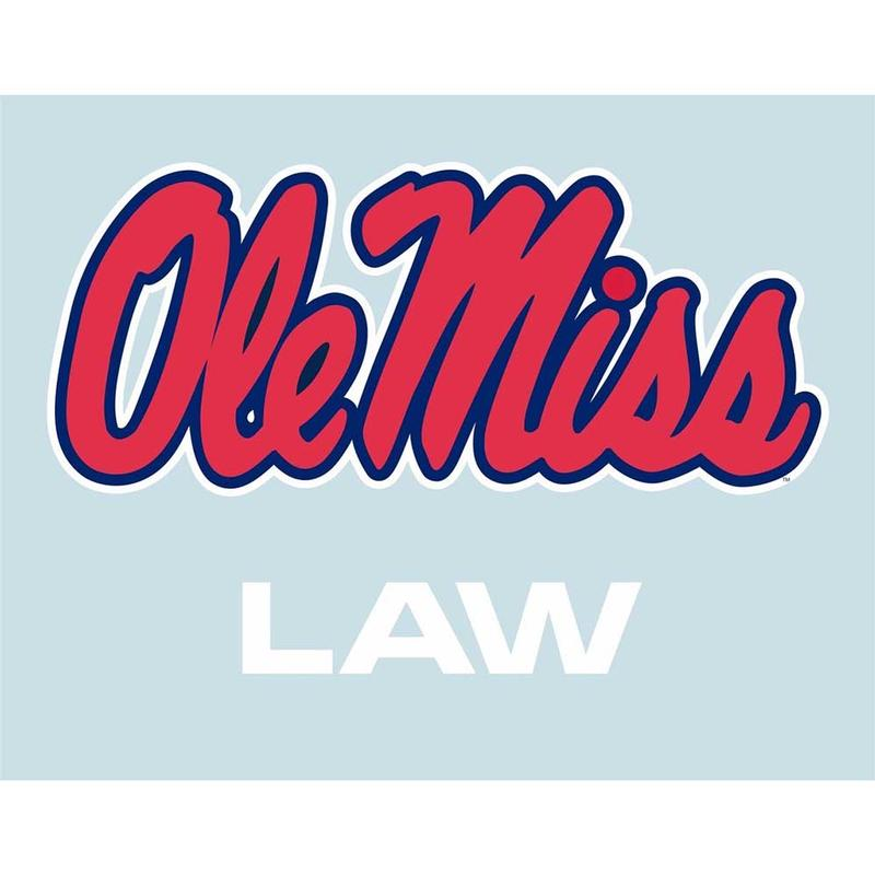5in Ole Miss Law Decal