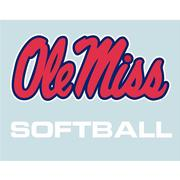 5IN OLE MISS SOFTBALL DECAL