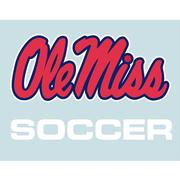 5IN OLE MISS SOCCER DECAL