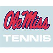 5IN OLE MISS TENNIS DECAL