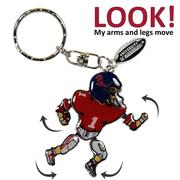 OLE MISS METAL PLAYER KEYCHAIN