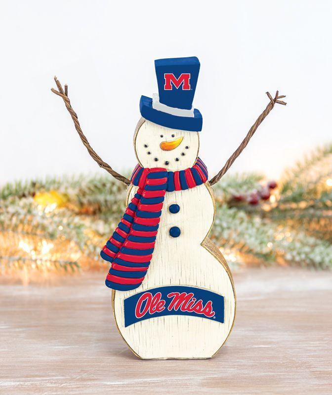 Ole Miss Tabletop Snowman
